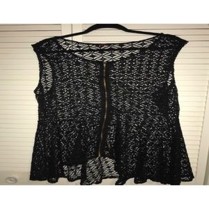 Tops - Lace Peplum Top